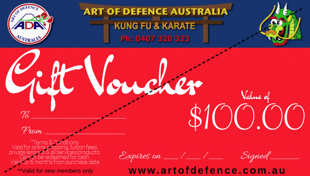 Gift voucher $100 sample