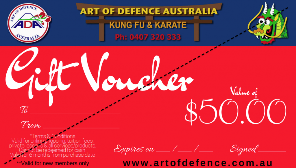 Gift voucher $50 sample