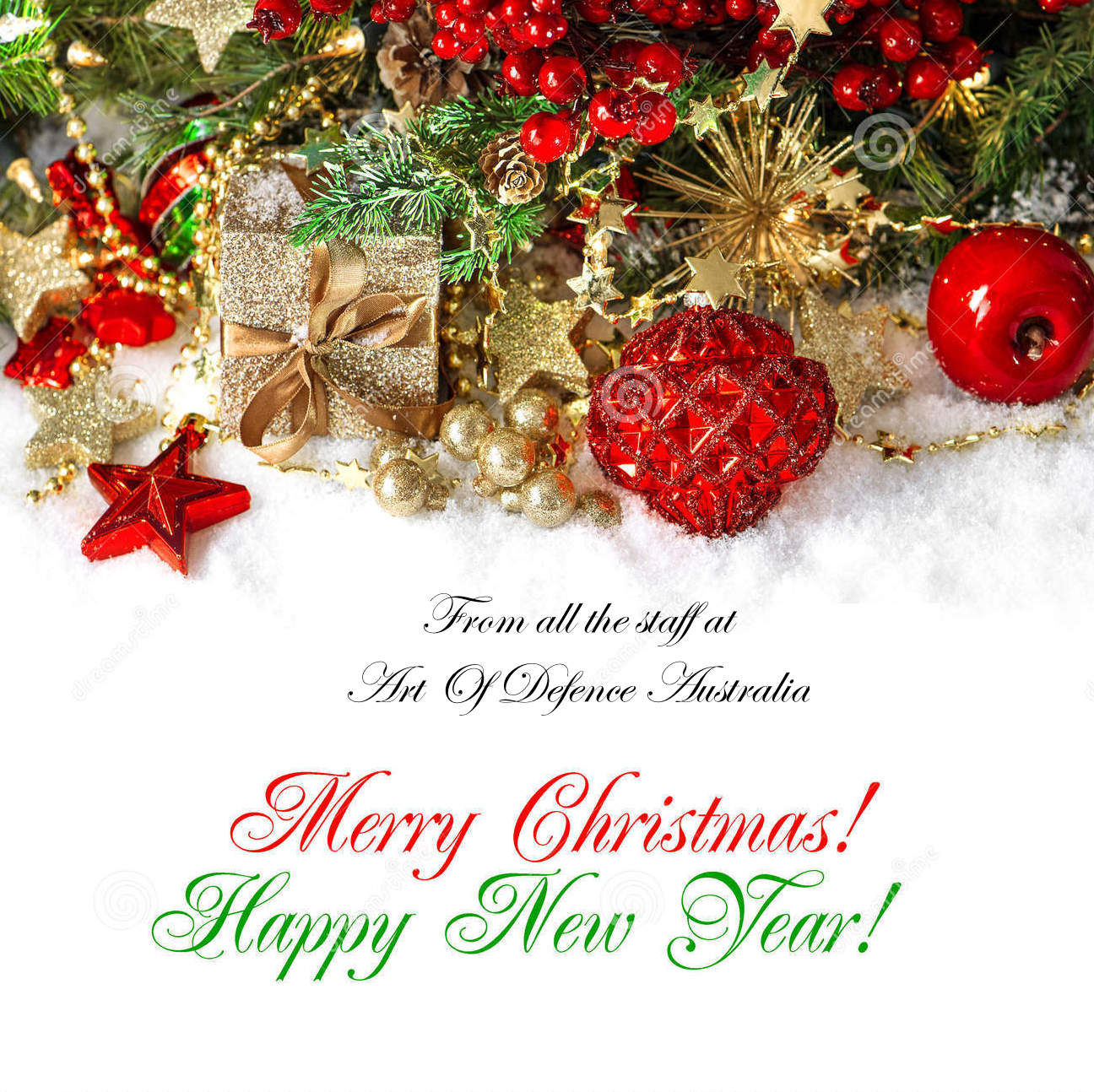 Christmas In Australia Background.Christmas Decoration Red Gold Holidays Background Sample